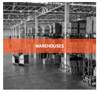 Sensors provide temperature and humidity of warehouses for temperature, movement or humidity control