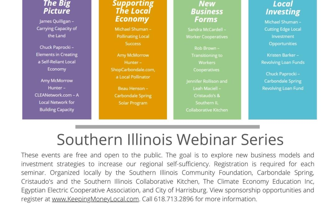 Press Release 9/30/20: Investment in Southern Illinois communities and people is the focus of this upcoming webinar series