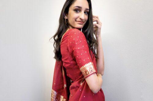 mani in a sari