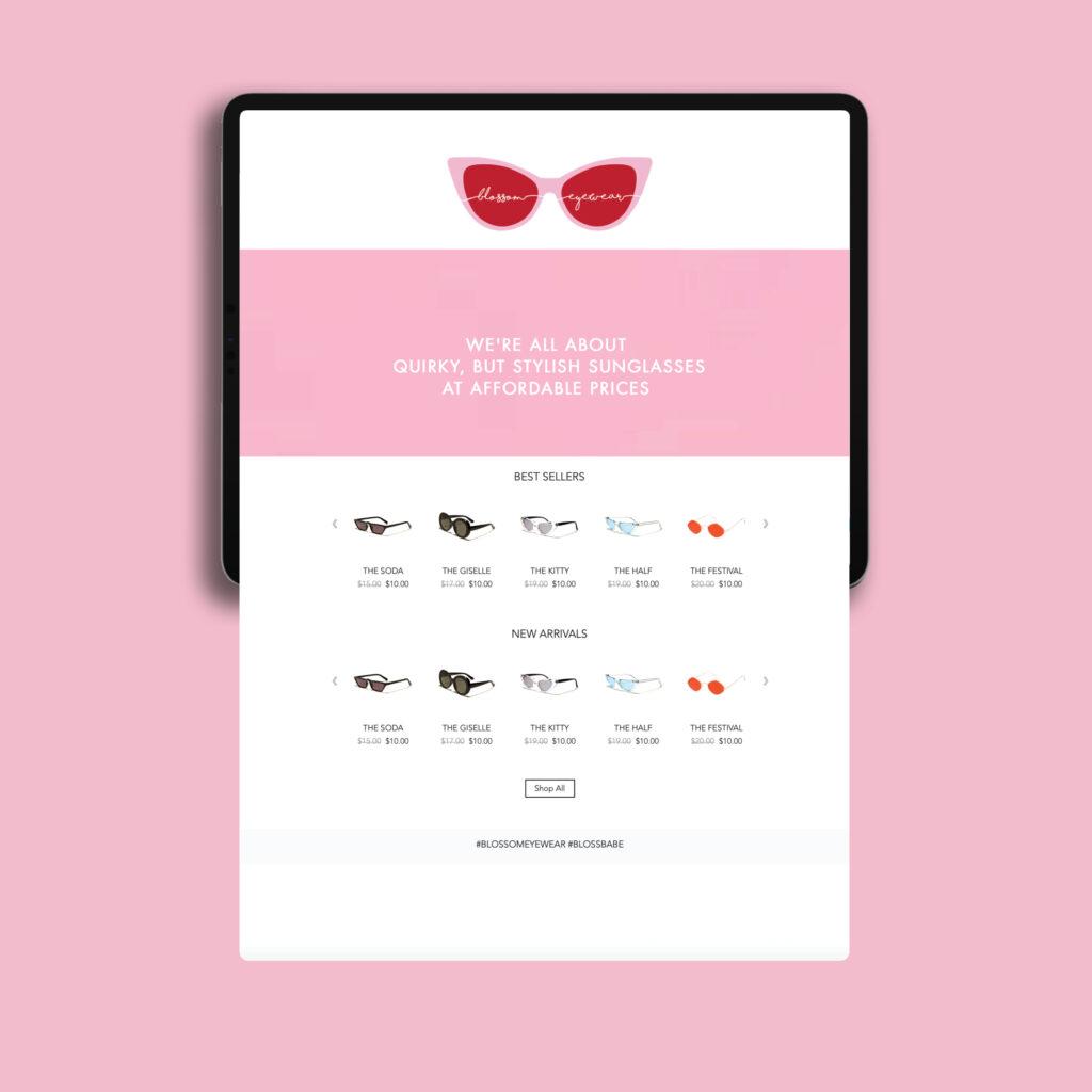 Blossom Eyewear Website