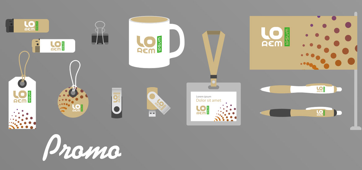 promotional products like cups and pens