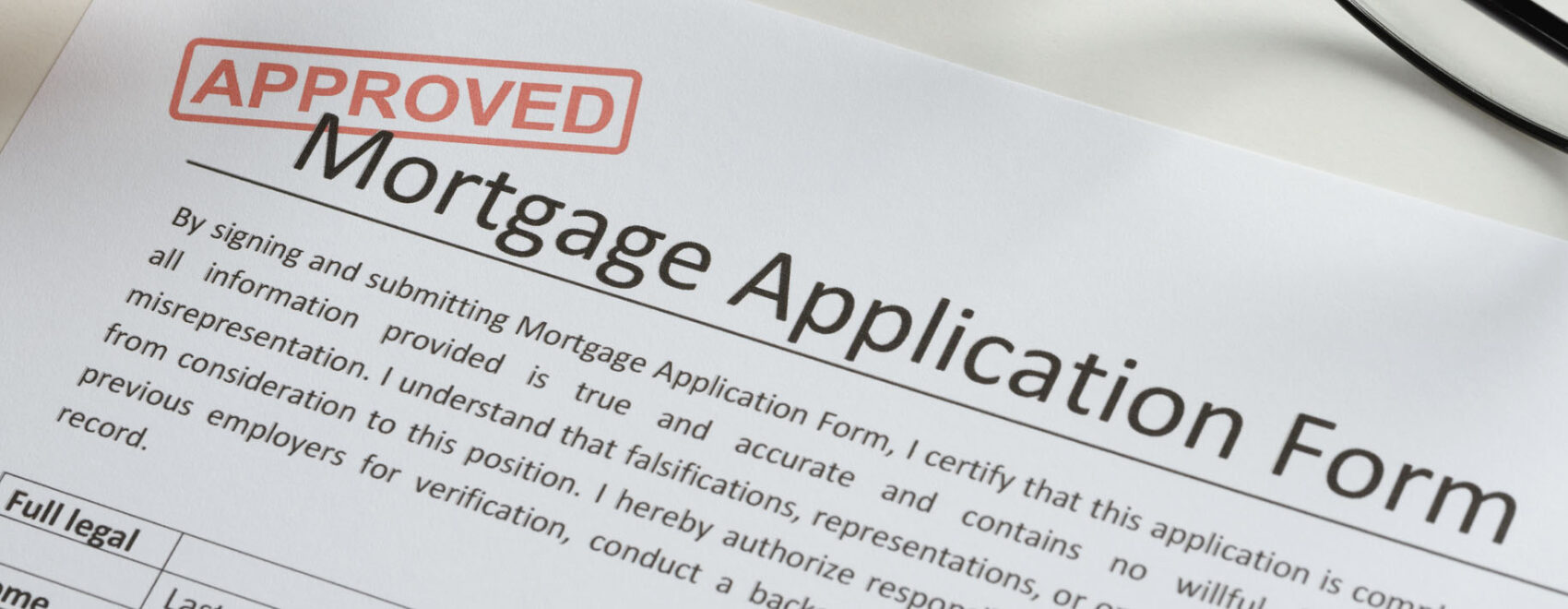 Image of a mortgage application