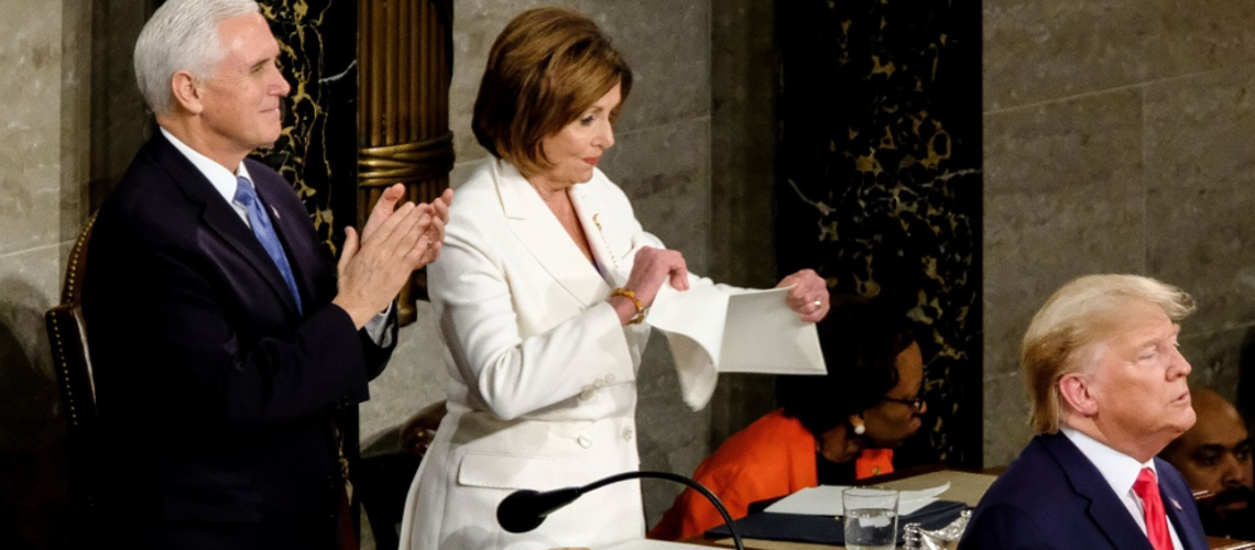 Nancy Pelosi, Dontal Trump Speach