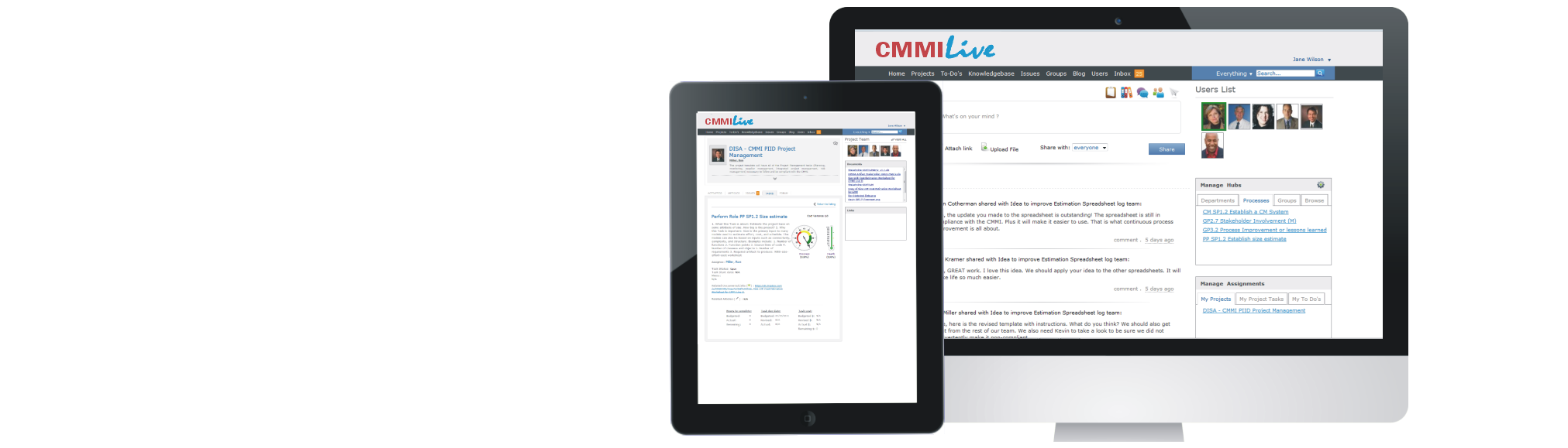 Create Your CMMI-Live Private Social Network. It is the easier, faster, lower-cost way to deploy and maintain CMMI.