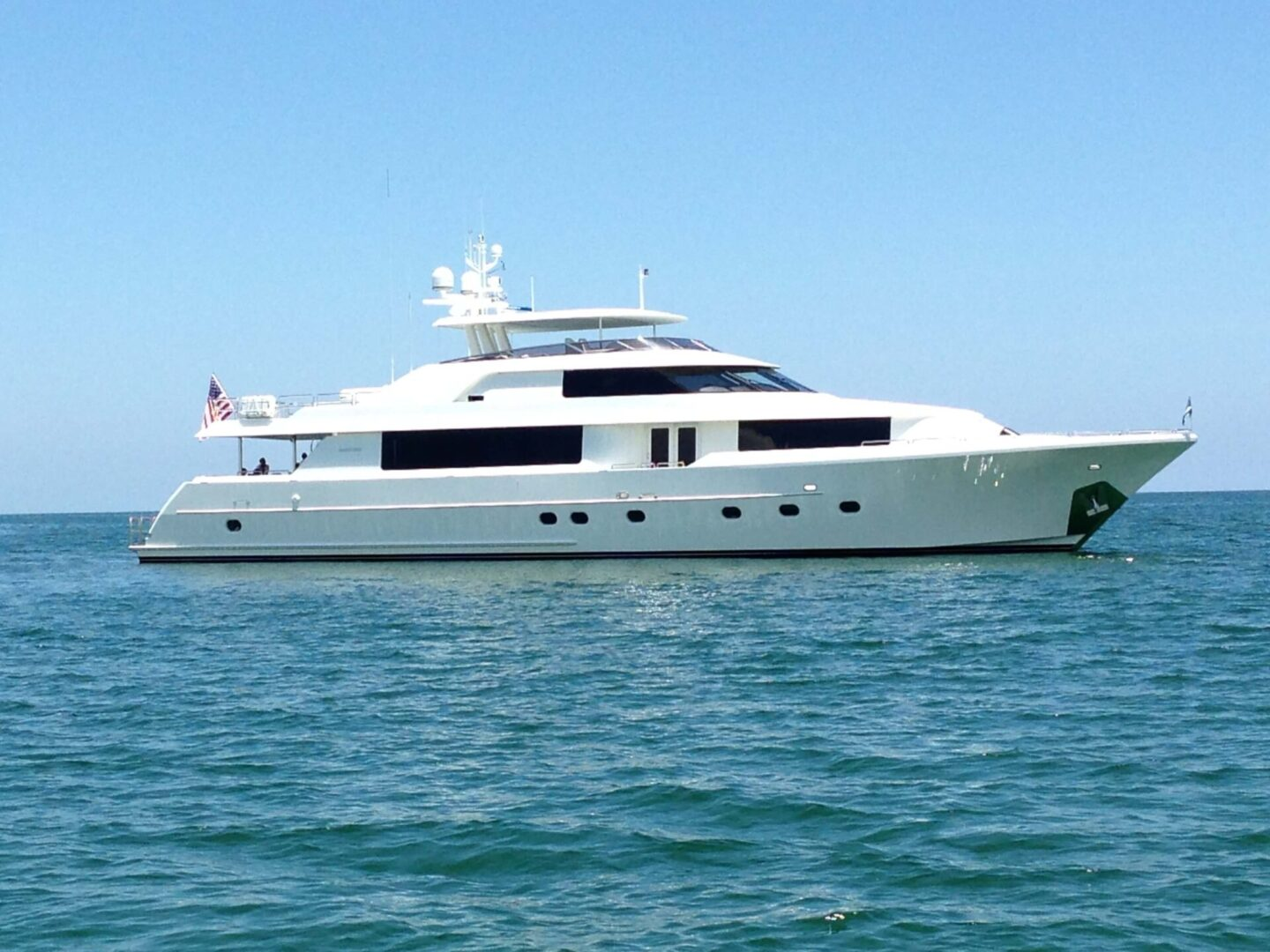 A high-end yacht on water