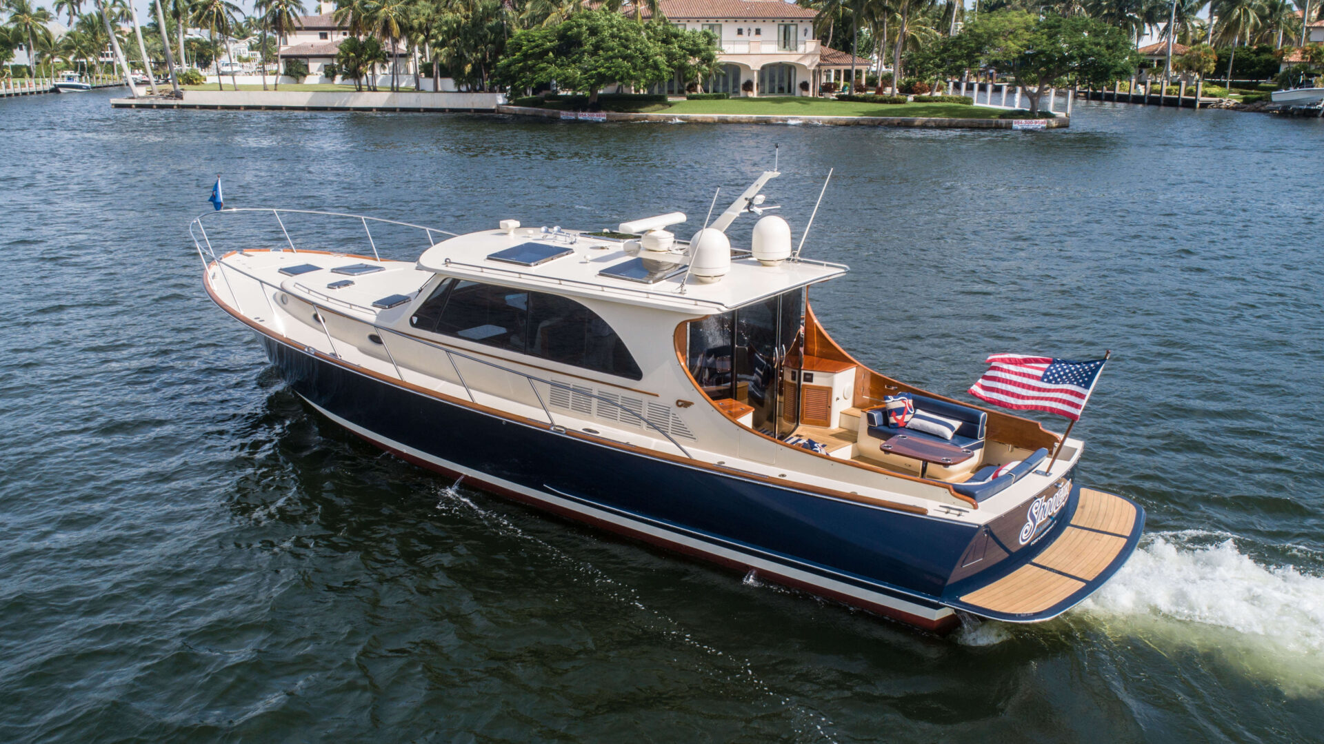 A Shooters Waterfront yacht
