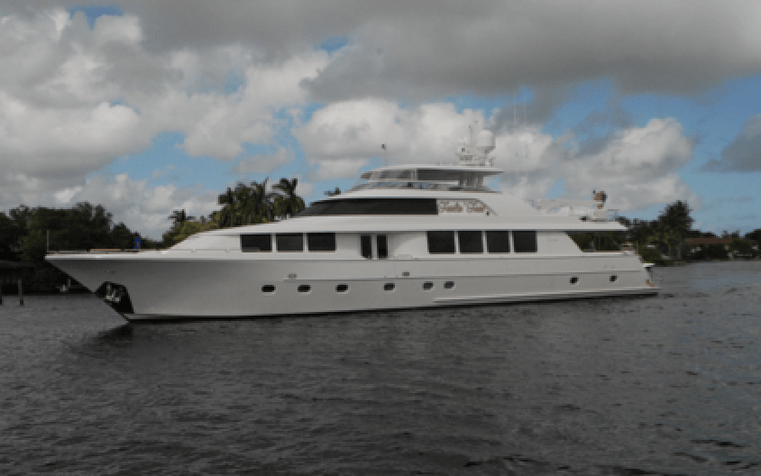 A view of the Feeling Free yacht