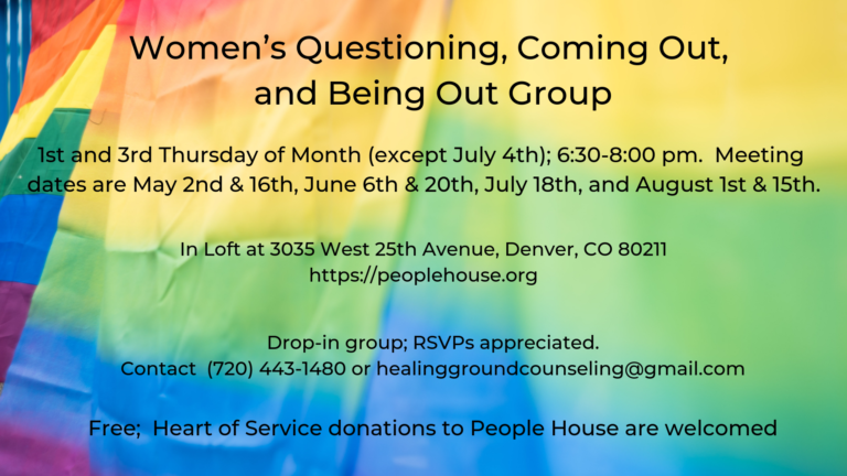New Women's Questioning, Coming Out, and Being Out Group