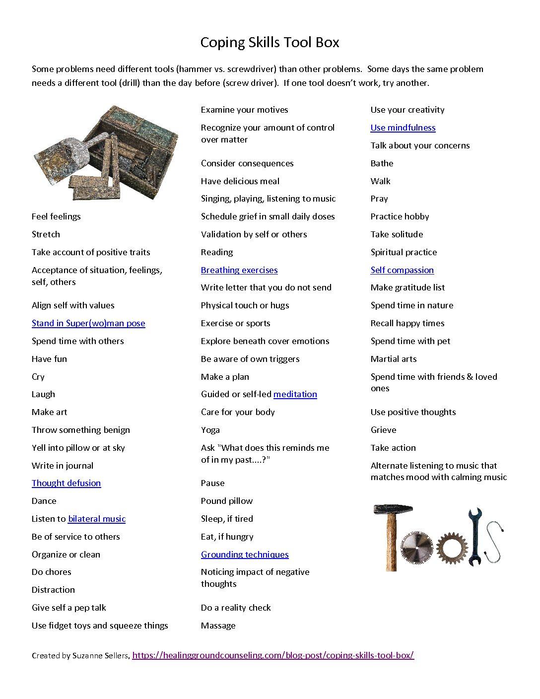 Coping Skills Tool Box