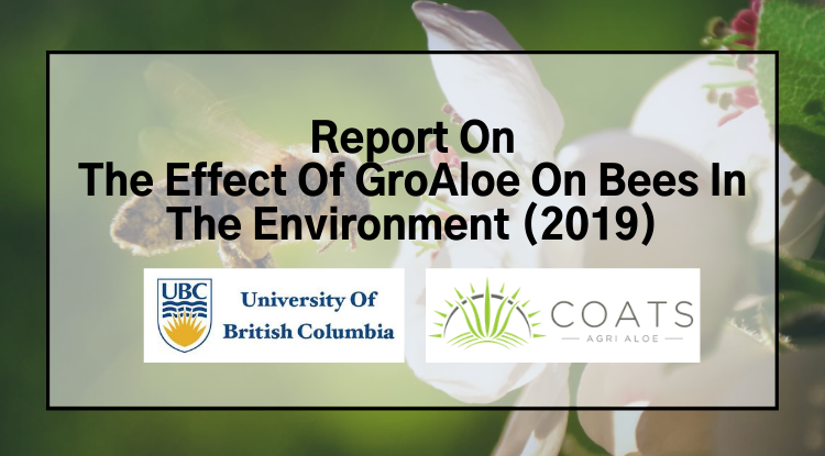 Effect of GroAloe on Bees