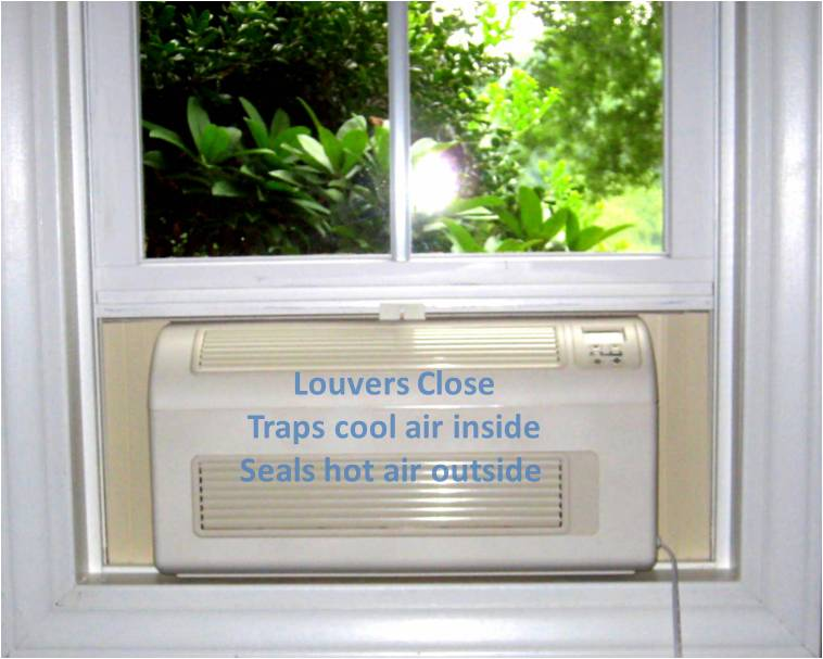 closable vents traps cool air inside and seals hot air outside
