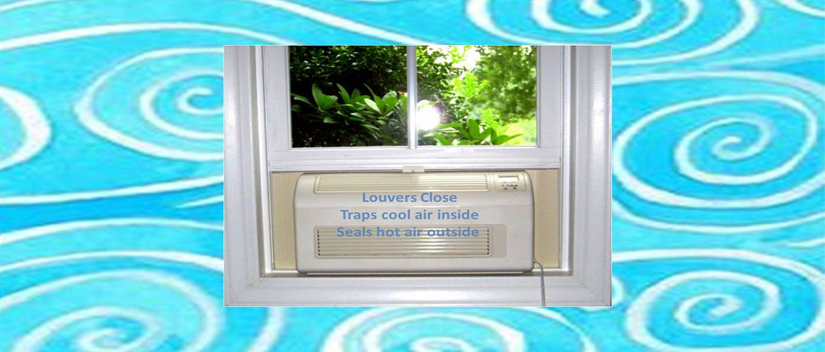 EcoBreeze smart window fan traps cool air inside and seals hot air outside