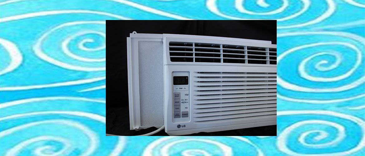 window air conditioner with side panels