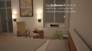 EcoBreeze 2 excels at nighttime, cooling as the outdoor temperature drops