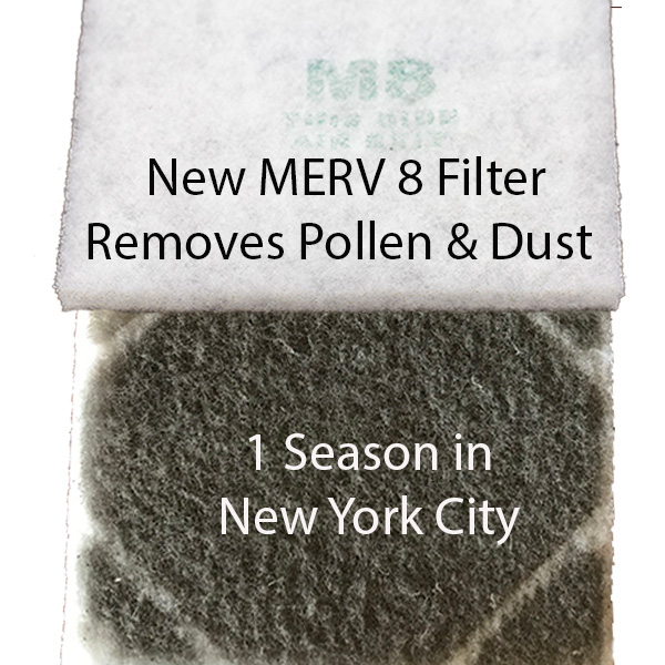 MERV 8 filter after 1 year in NYC