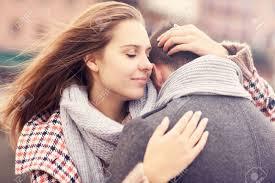 woman comforts man