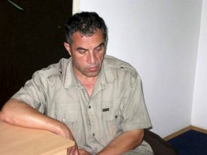 A police handout shows Macedonian journalist Vlado Taneski, who was jailed on suspicion of murder, in Skopje June 22, 2008. Taneski, who had been charged with the murders of two women, was found dead in his cell, police said. The journalist was also under investigation for the murder of a third woman and the disappearance of a fourth. Photo taken June 22, 2008. REUTERS/Handout (MACEDONIA). FOR EDITORIAL USE ONLY. NOT FOR SALE FOR MARKETING OR ADVERTISING CAMPAIGNS.