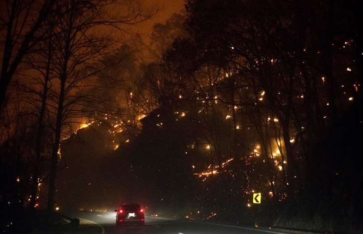 Tennessee wildfires