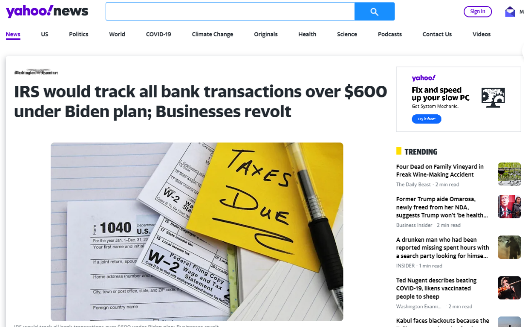 B2B Vault Episode 1: IRS To Track Bank Transactions