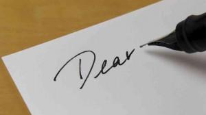 letter write graphic