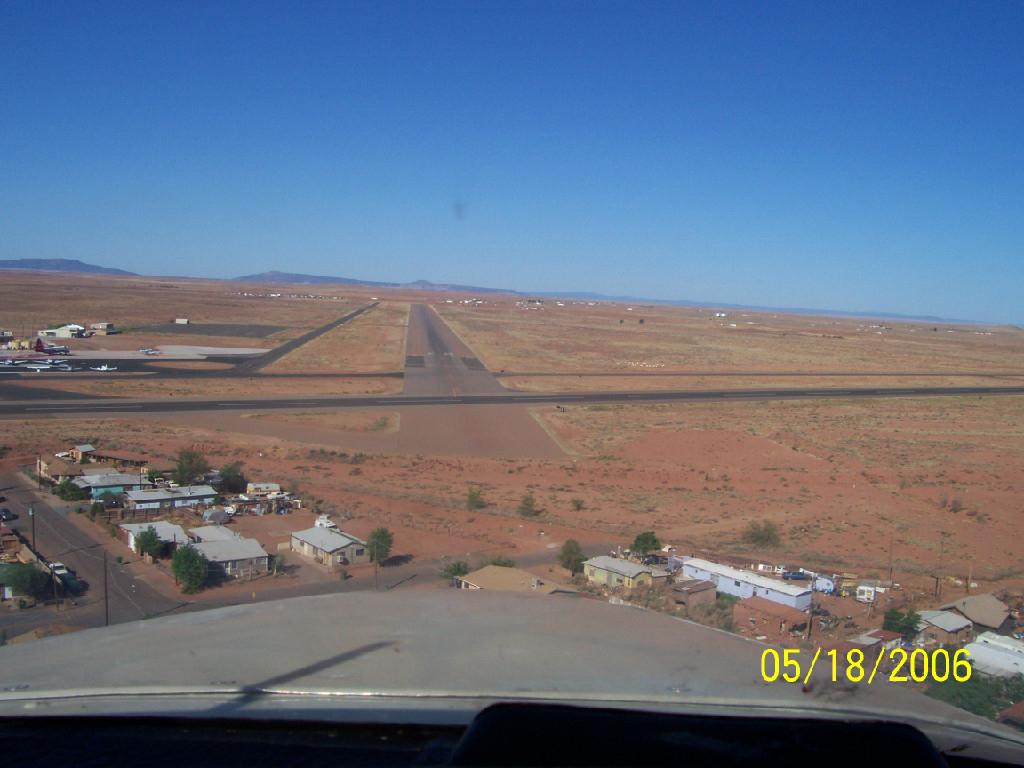 A desert town.