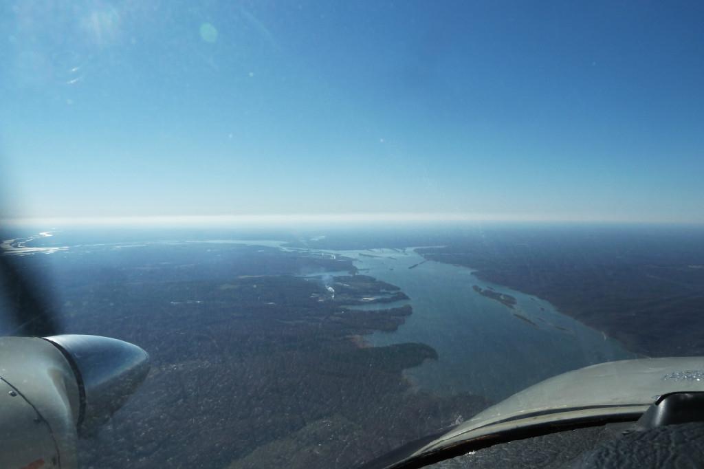 View of a big river.