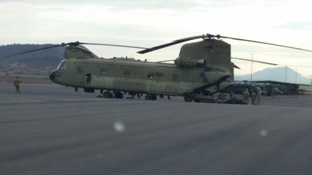 A military aircraft.