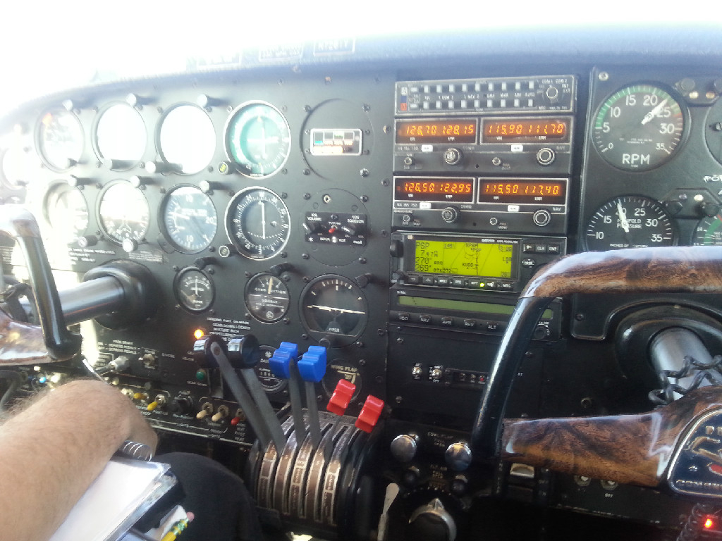 Airplane controls.