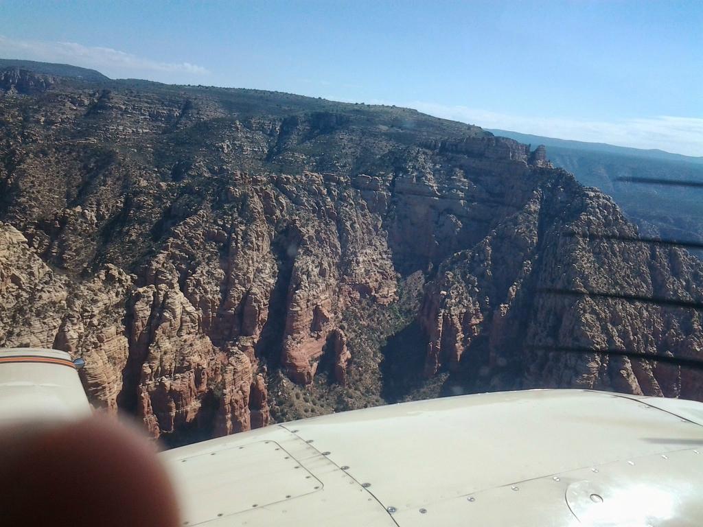Cliffs with vegetation.