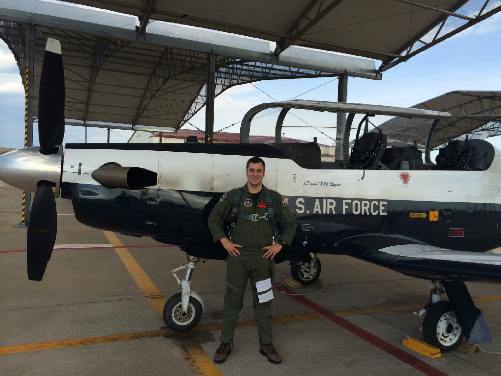 An Air Force personnel.