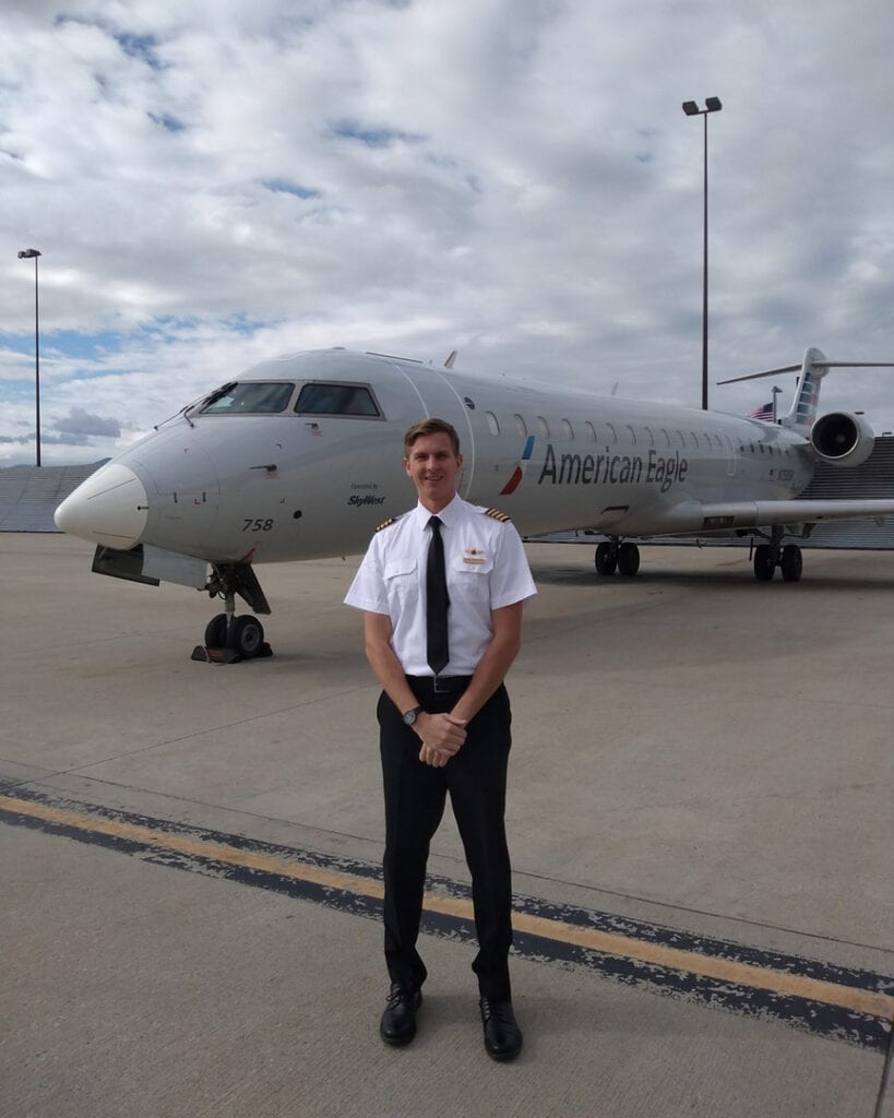 Pilot standing.