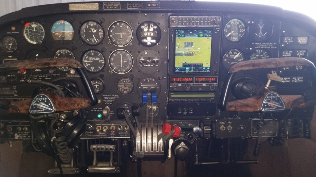 A big airplane console.