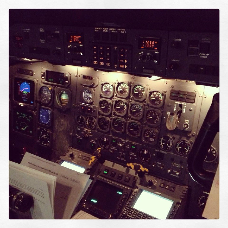 Airplane controls and gauges.