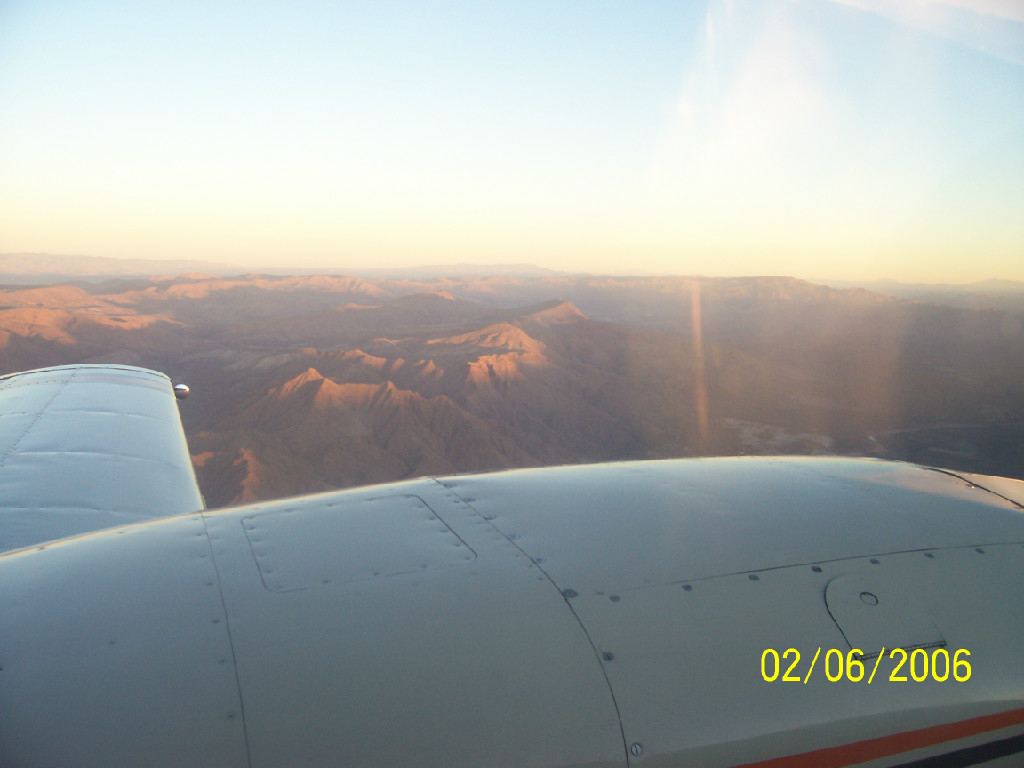 A view of the mountains from above.