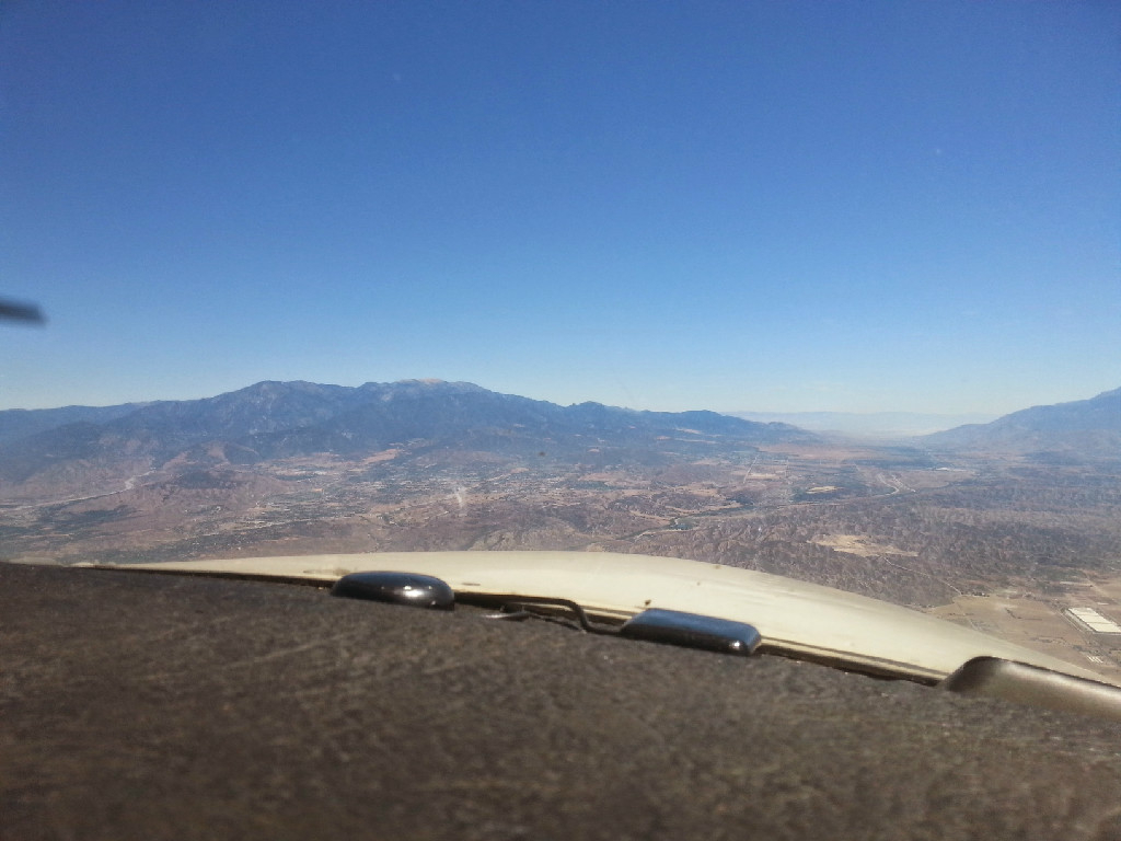 A view of the scenery from the airplane.