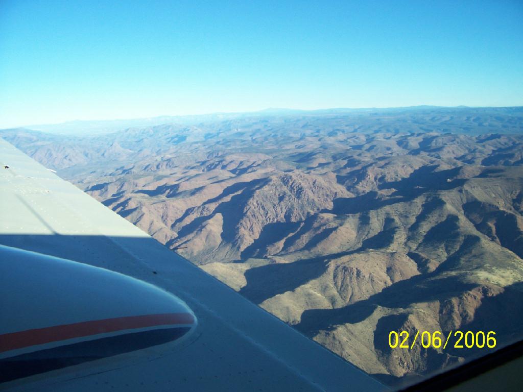 View of the mountainous landscape.