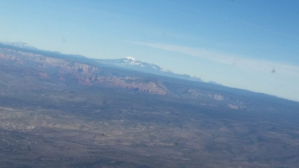 Aerial view of the mountains.