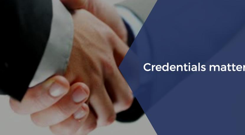 credentials matter