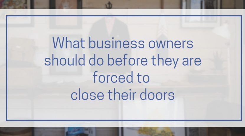Forced to close doors blog post