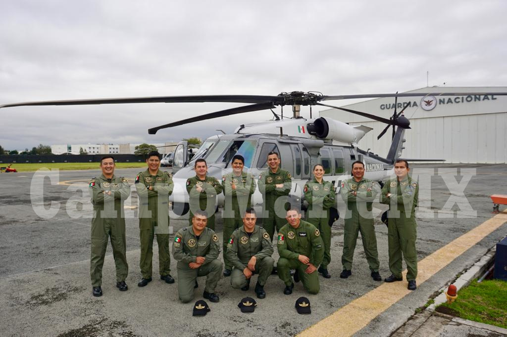 Pilotos de la Guardia Nacional que participaron en el Desfile Militar 2020