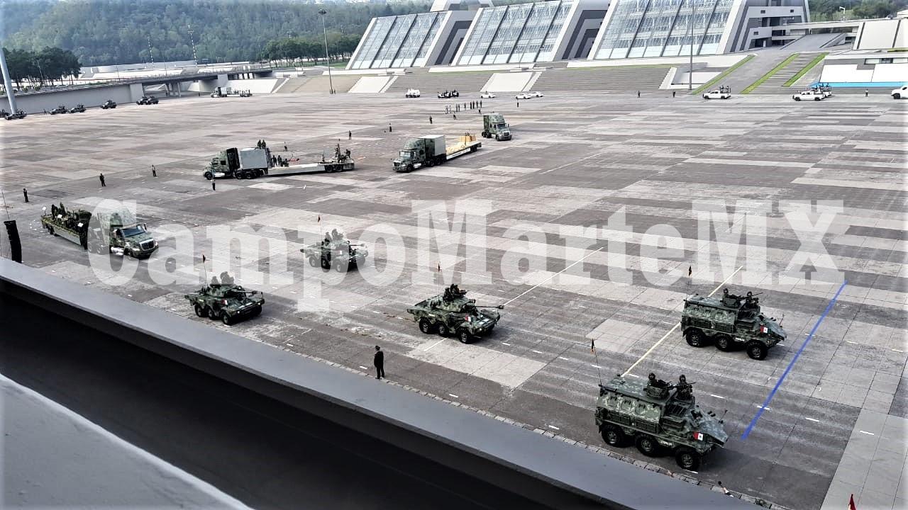 Ensayo desfile militar 2020
