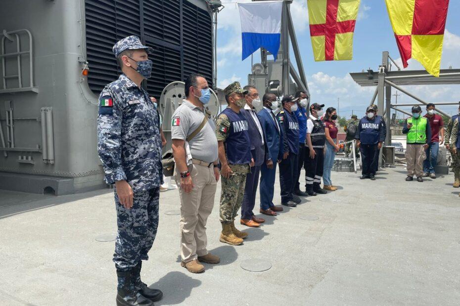 Zarparon de Haití los buques Papaloapan y Libertador tras completar misión humanitaria