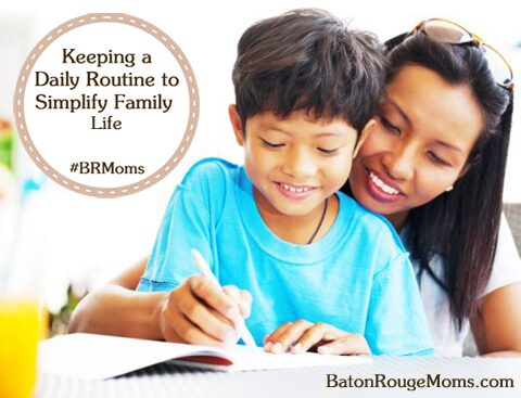 Daily Routine to Simplify Family Life