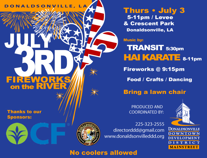 July 3rd Fireworks on the River celebration