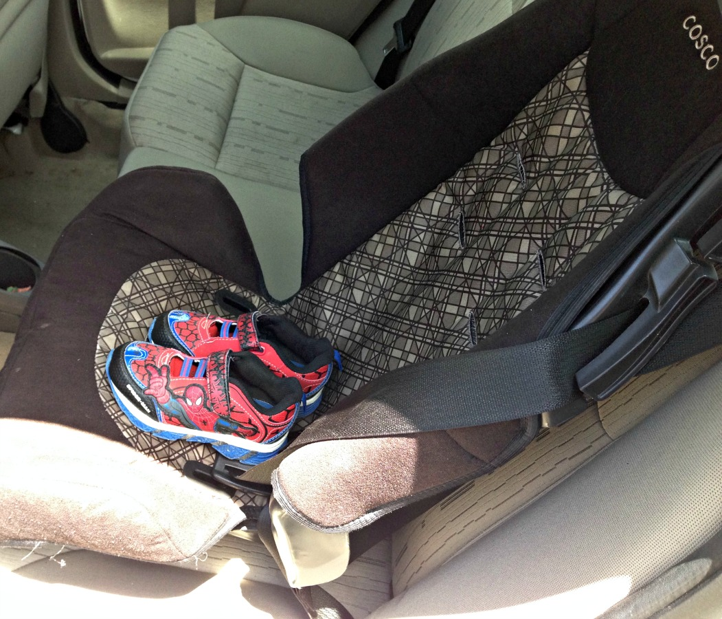 Now we just need to find mom a pair of emergency shoes.