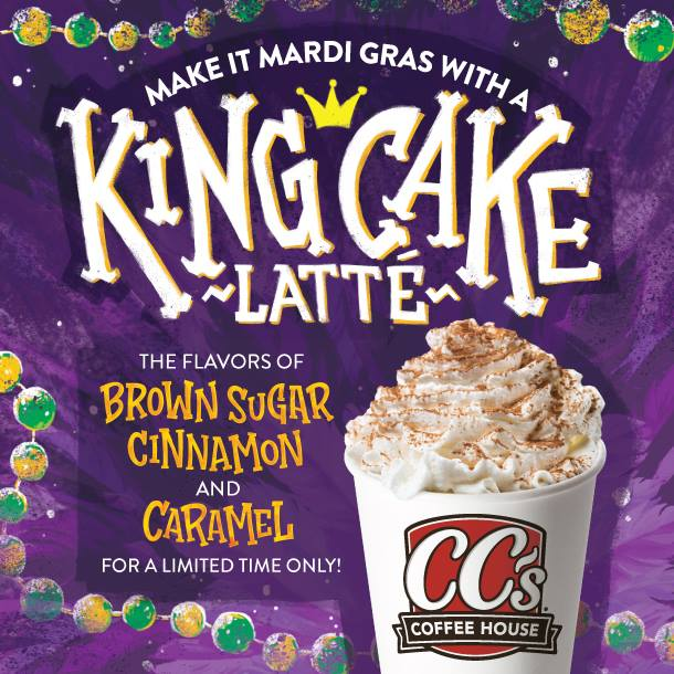 King Cake Latte