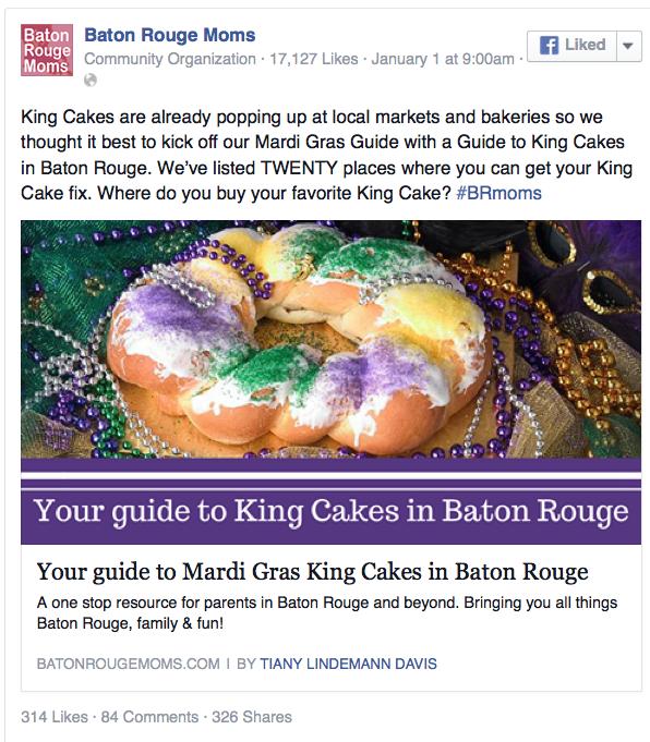 Best King Cake in Baton Rouge