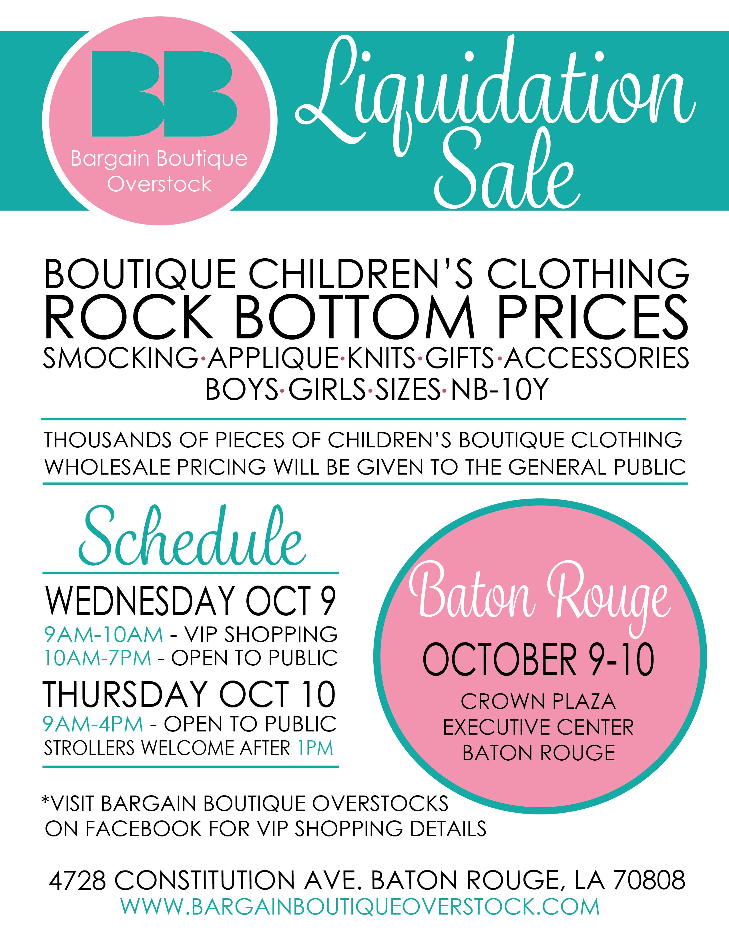 Baton Rouge Bargain Boutique Overstock
