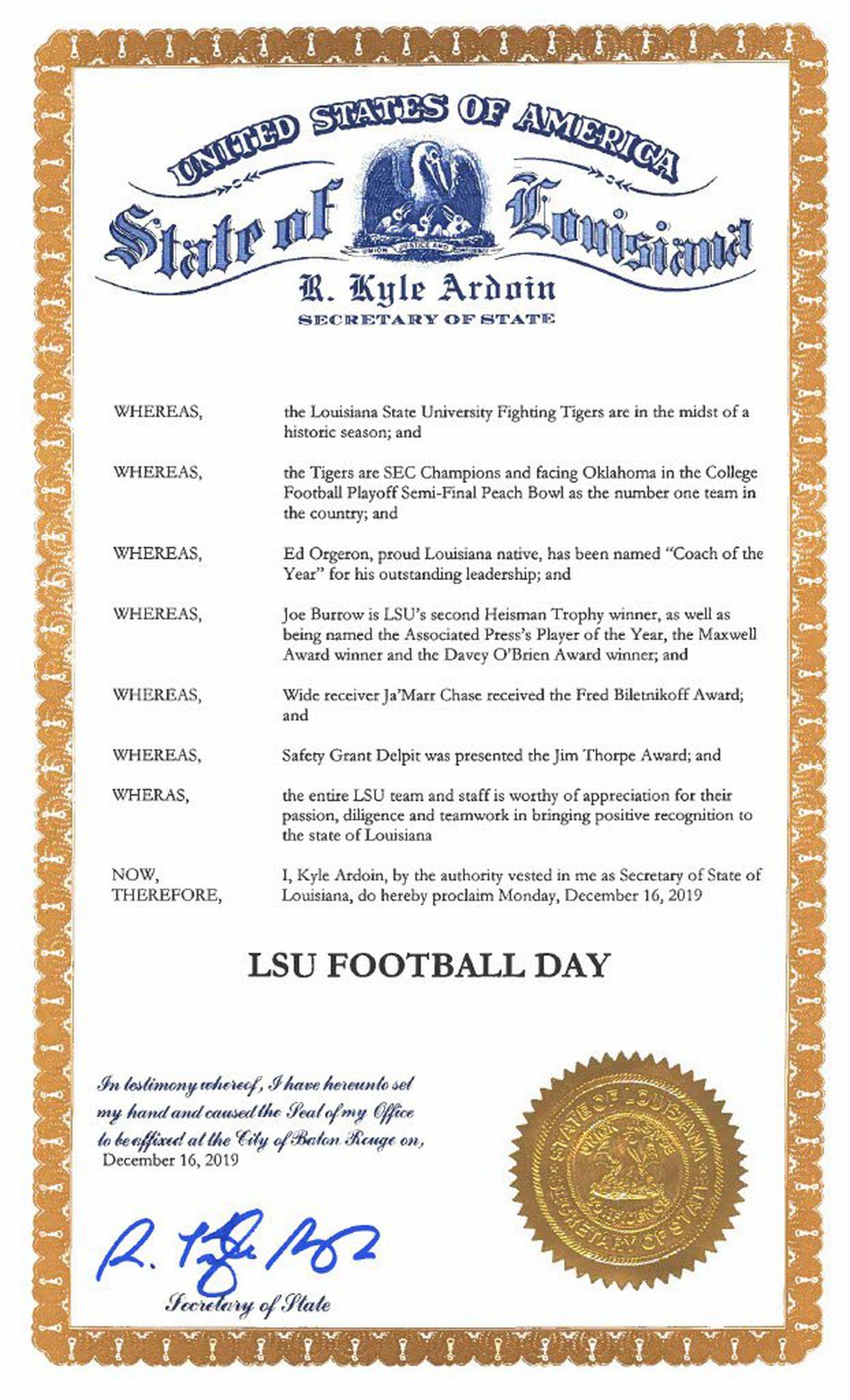 LSU Football Day