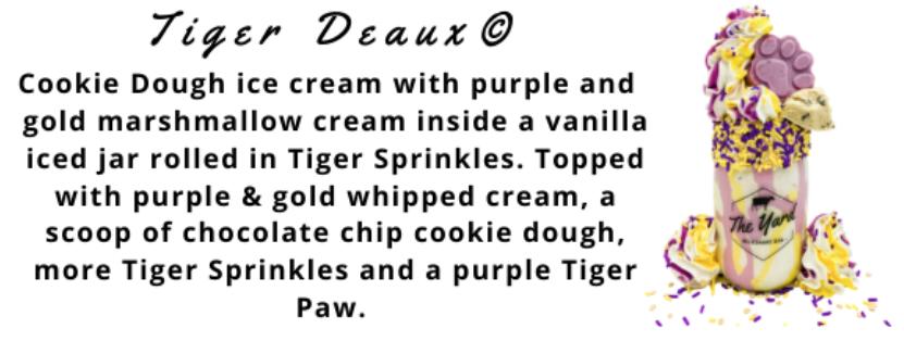 Tiger Deaux - The Yard Milkshake Bar Baton Rouge